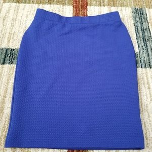 Elle Pencil skirt color blue size small.EUC
